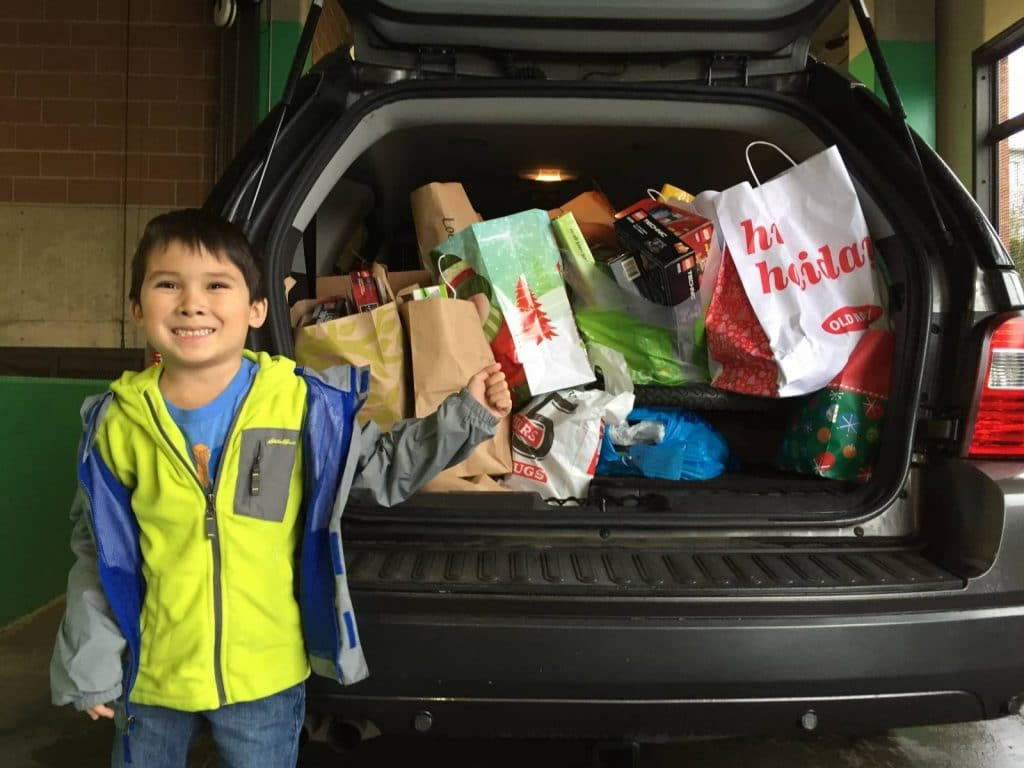 Alpha Martial Arts Drops off Donations for Treehouse